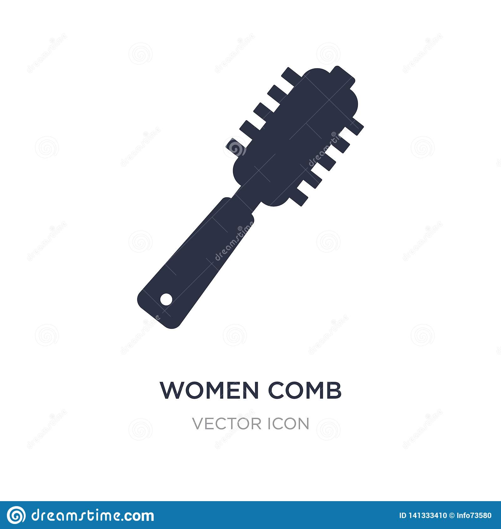 women comb icon on white background. Simple element illustration from Beauty concept