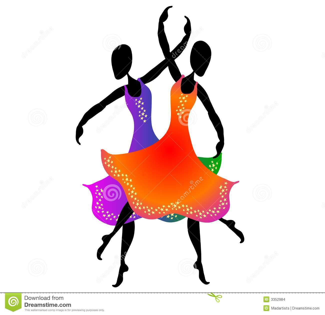 women dancing clip art 2 stock illustration illustration of clipart rh dreamstime com dancing clipart images dance clipart images
