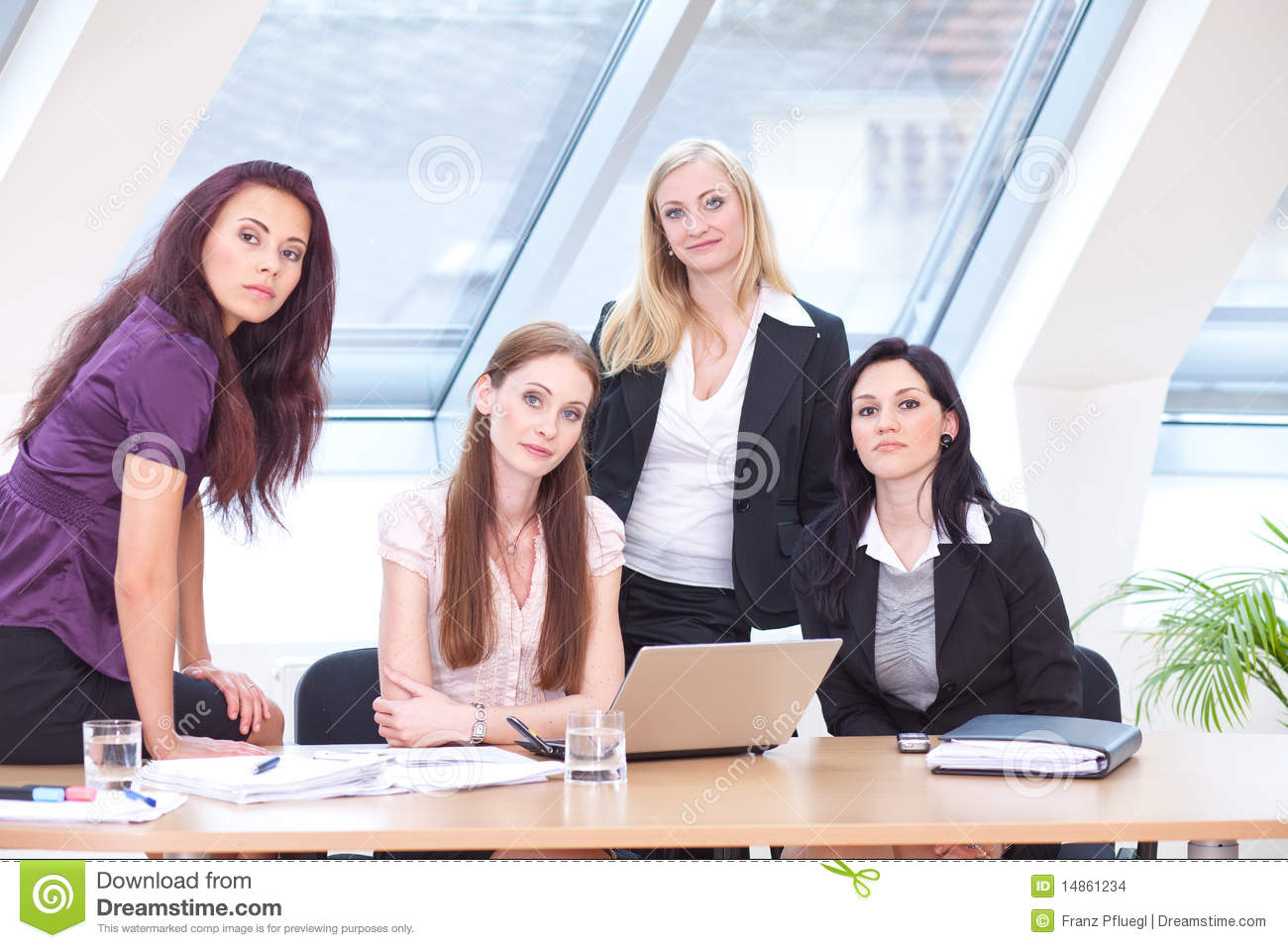 Women at the desk