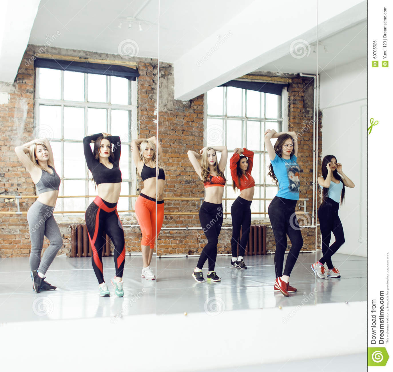 Women Doing Sport In Gym Healthcare Lifestyle People Concept