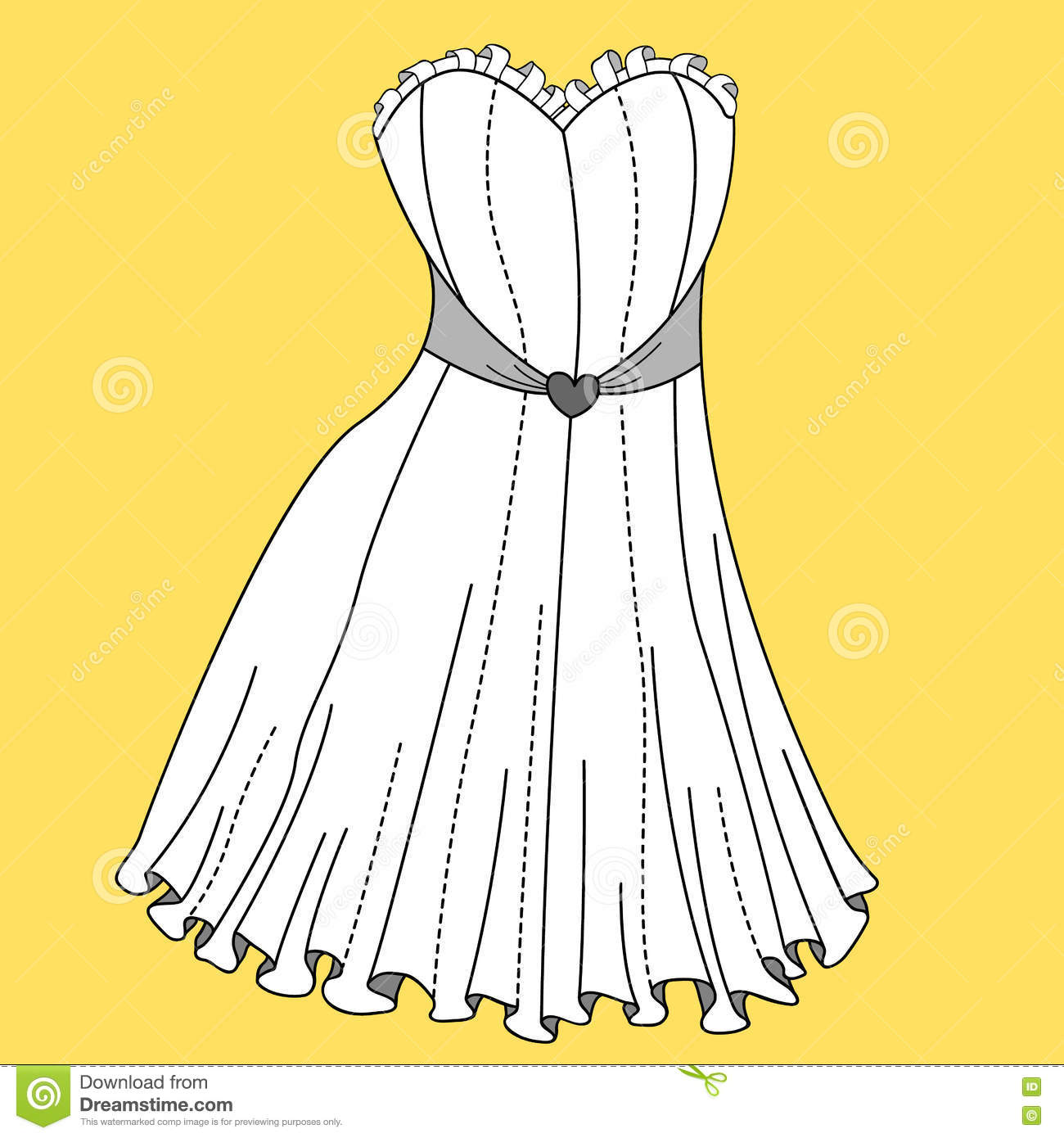 Women Dress Design Stock Vector Illustration Of Clothing 71019071