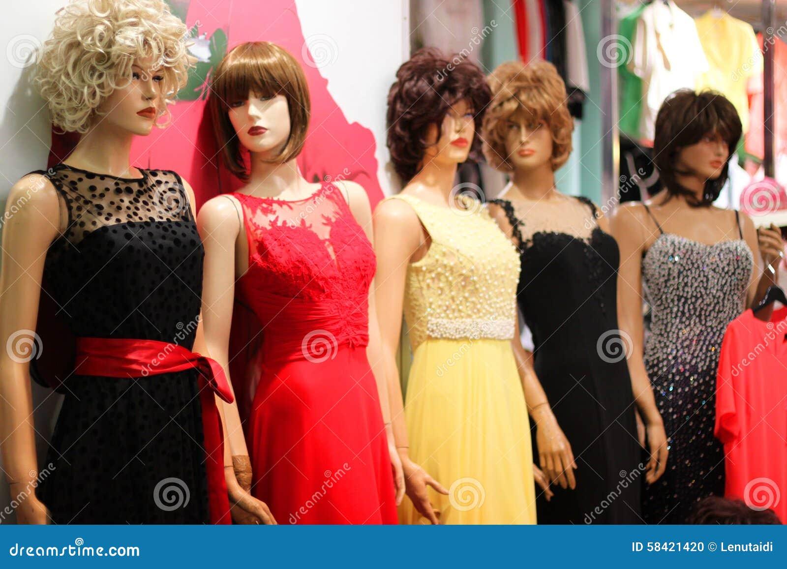 Women dresses mannequins