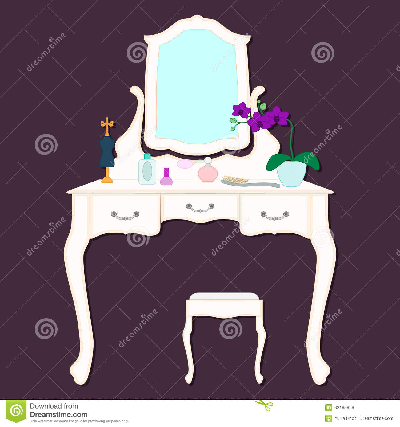 Women dressing table stock vector image 62165999 for Womens dressing table