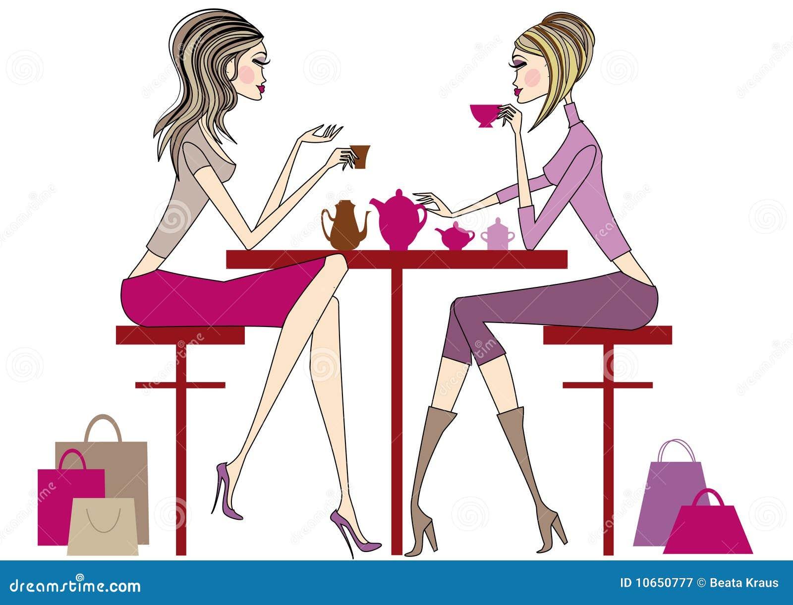 Women drinking coffee,