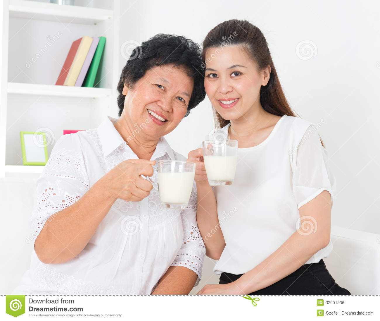 Adult drinks with milk