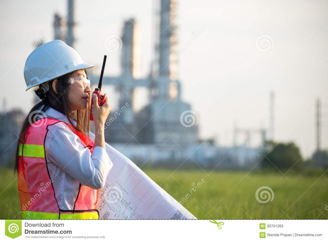 the women engineer at power plant stock photo - Power Plant Engineer
