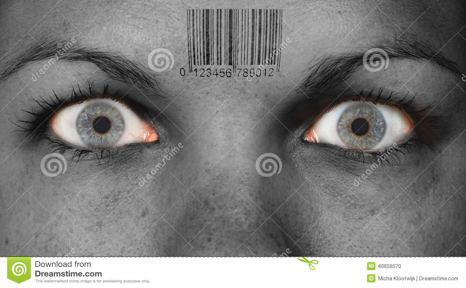 Women eye, close-up