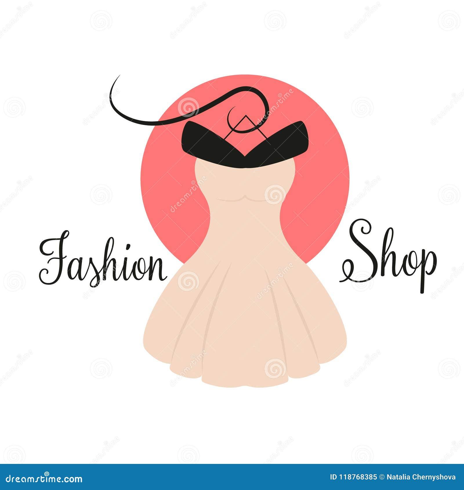 Women fashion logo design template dress emblem stock vector download women fashion logo design template dress emblem stock vector illustration of logotype maxwellsz