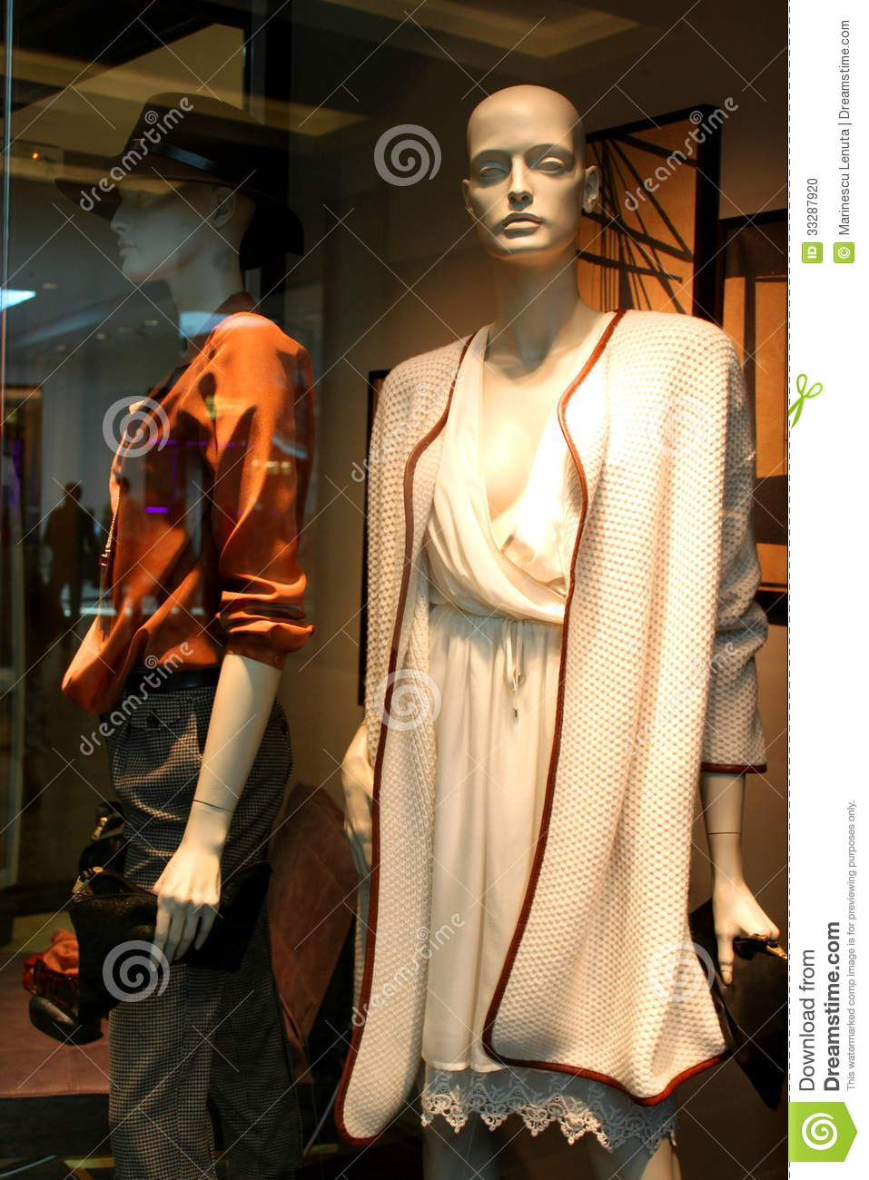 Fashion boutique with seasonal women clothing