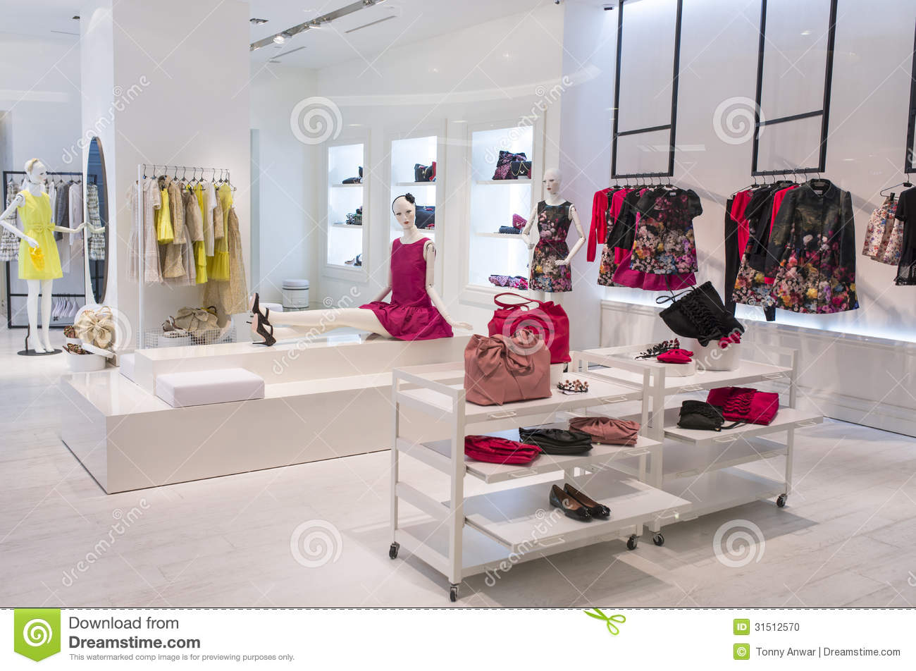 Women Fashion Store Stock Photo Image Of Mannequin Department 31512570