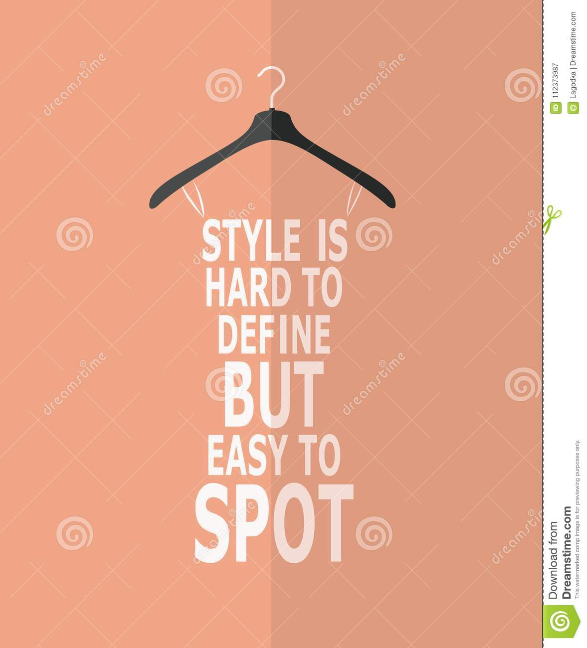 Women Fashion Stylized Dress From Quotes Stock Vector