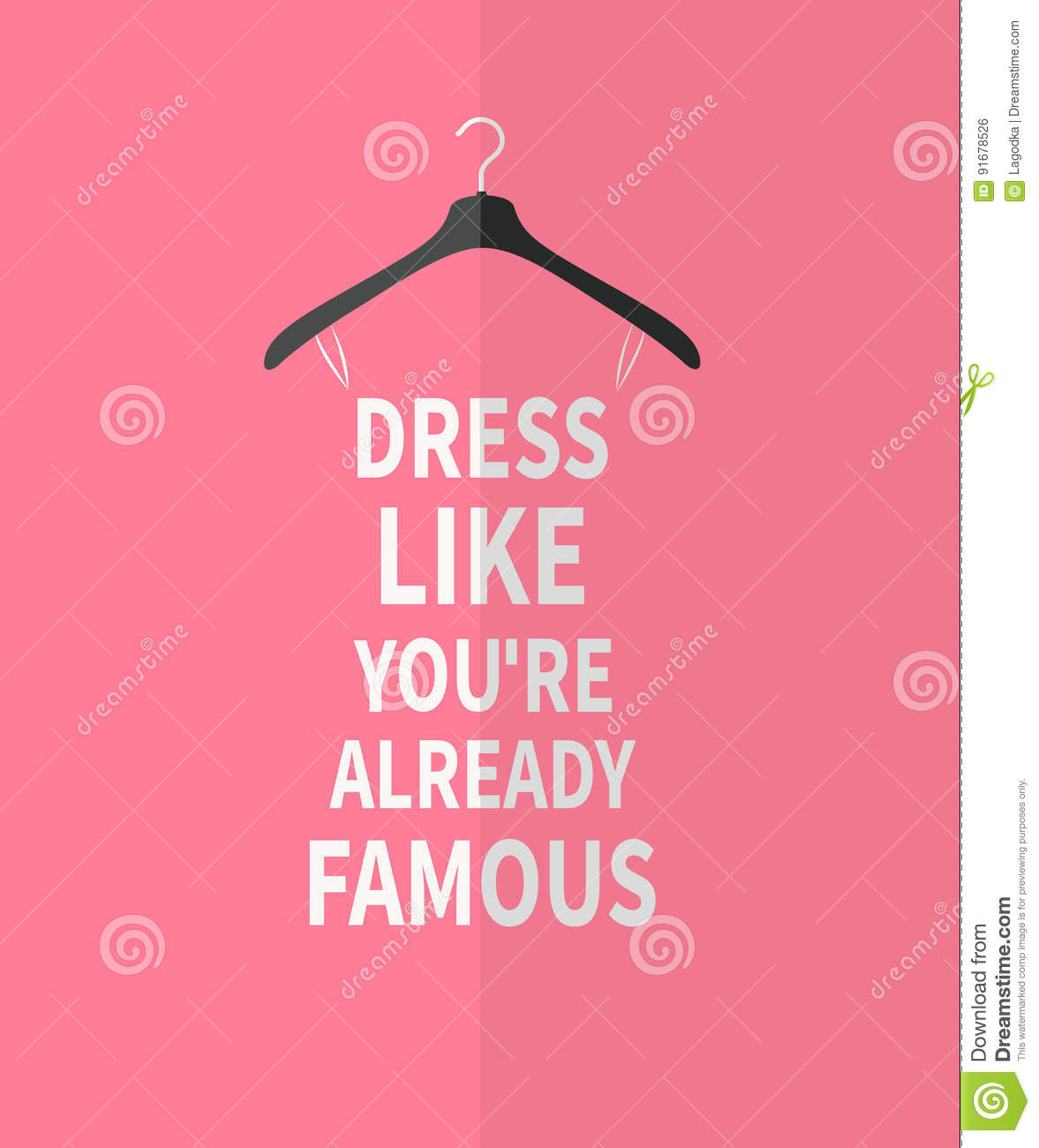 Quotes For Women Women Fashion Stylized Dress From Quotes Stock Vector  Image