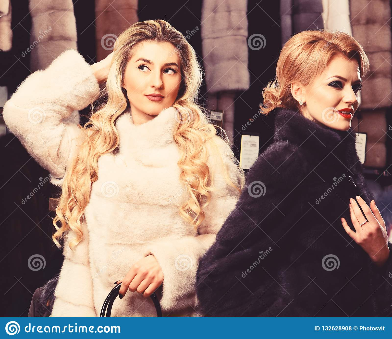 ladies in fur coats