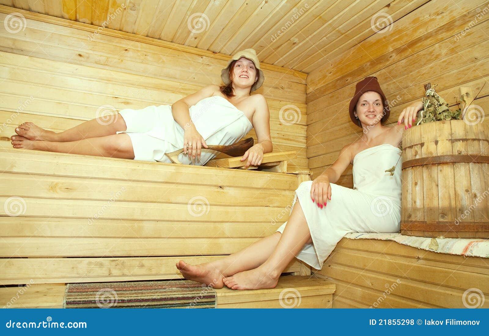 В бане дочка