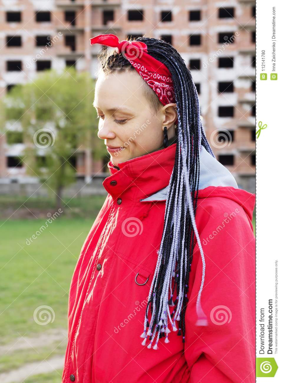 Women With Afrobraids Stock Photo Image Of Design Dreadlocks