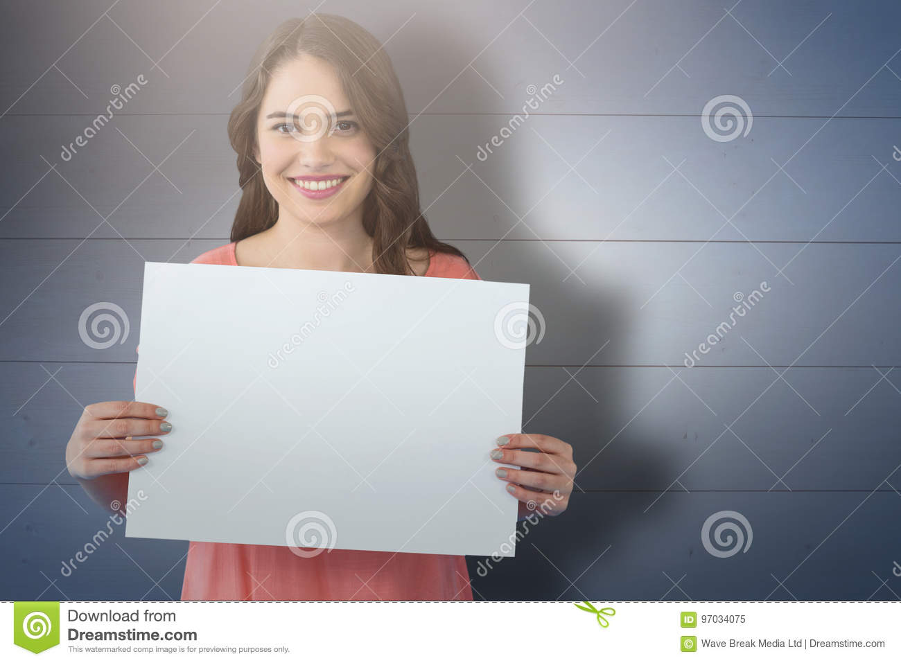 Composite image of women holding blank poster