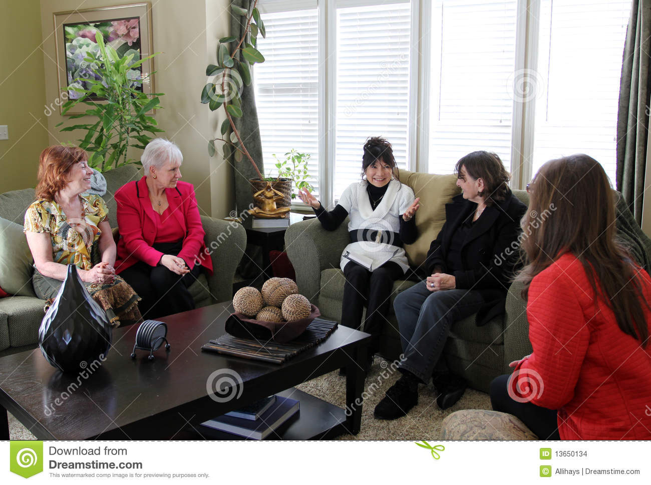 Women At Home Meeting Stock Images Image 13650134