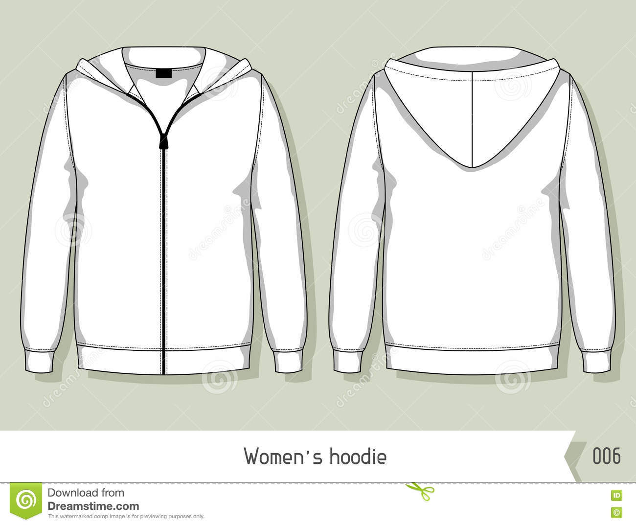 women hoodie template for design easily editable by