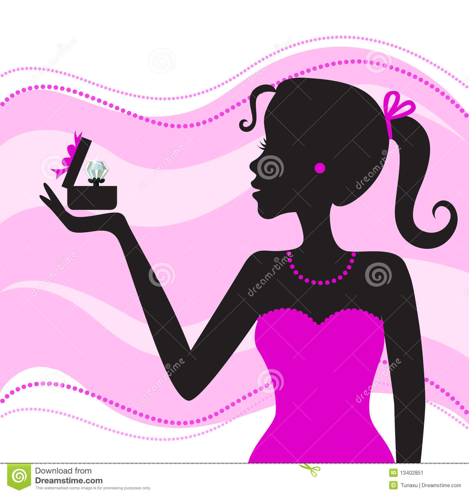 Diamond Box Xl >> Women with jewelry stock vector. Image of fashion, valentine - 13402851