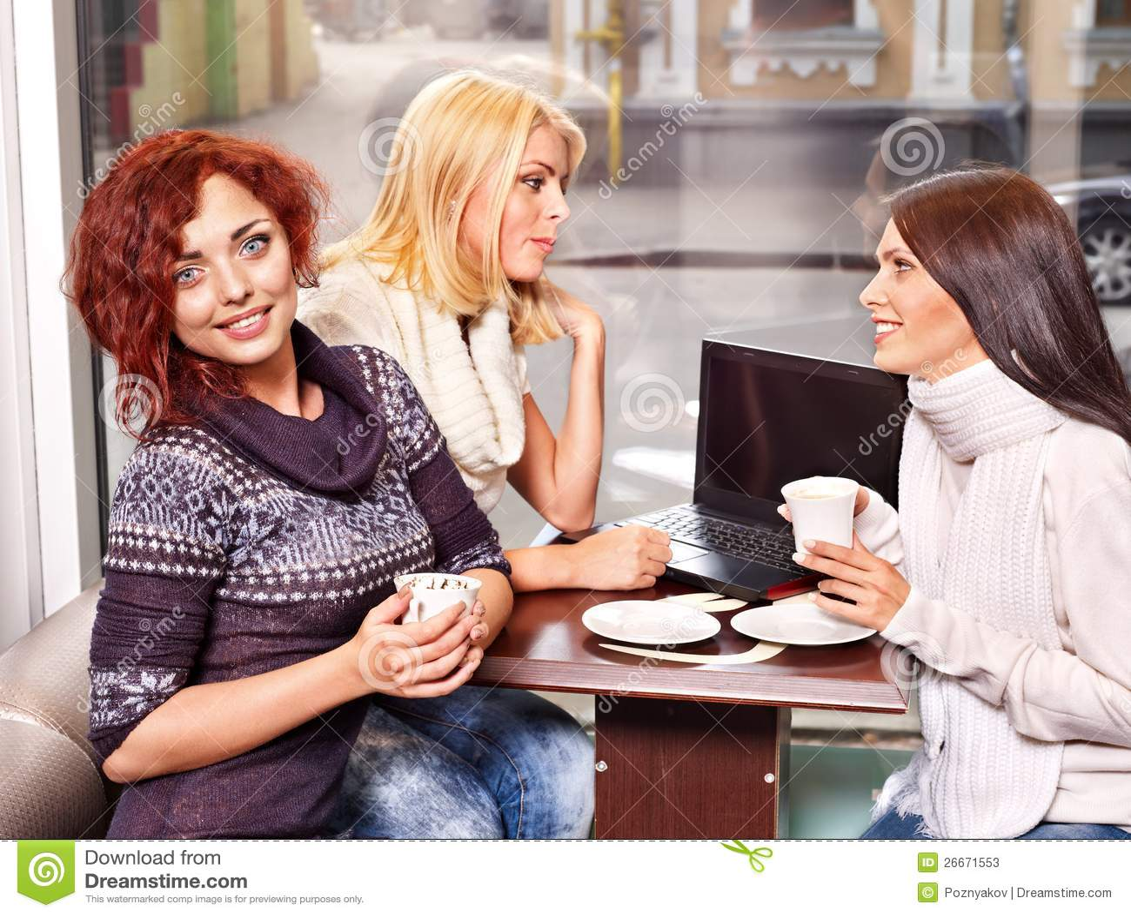 nude girls drink coffee