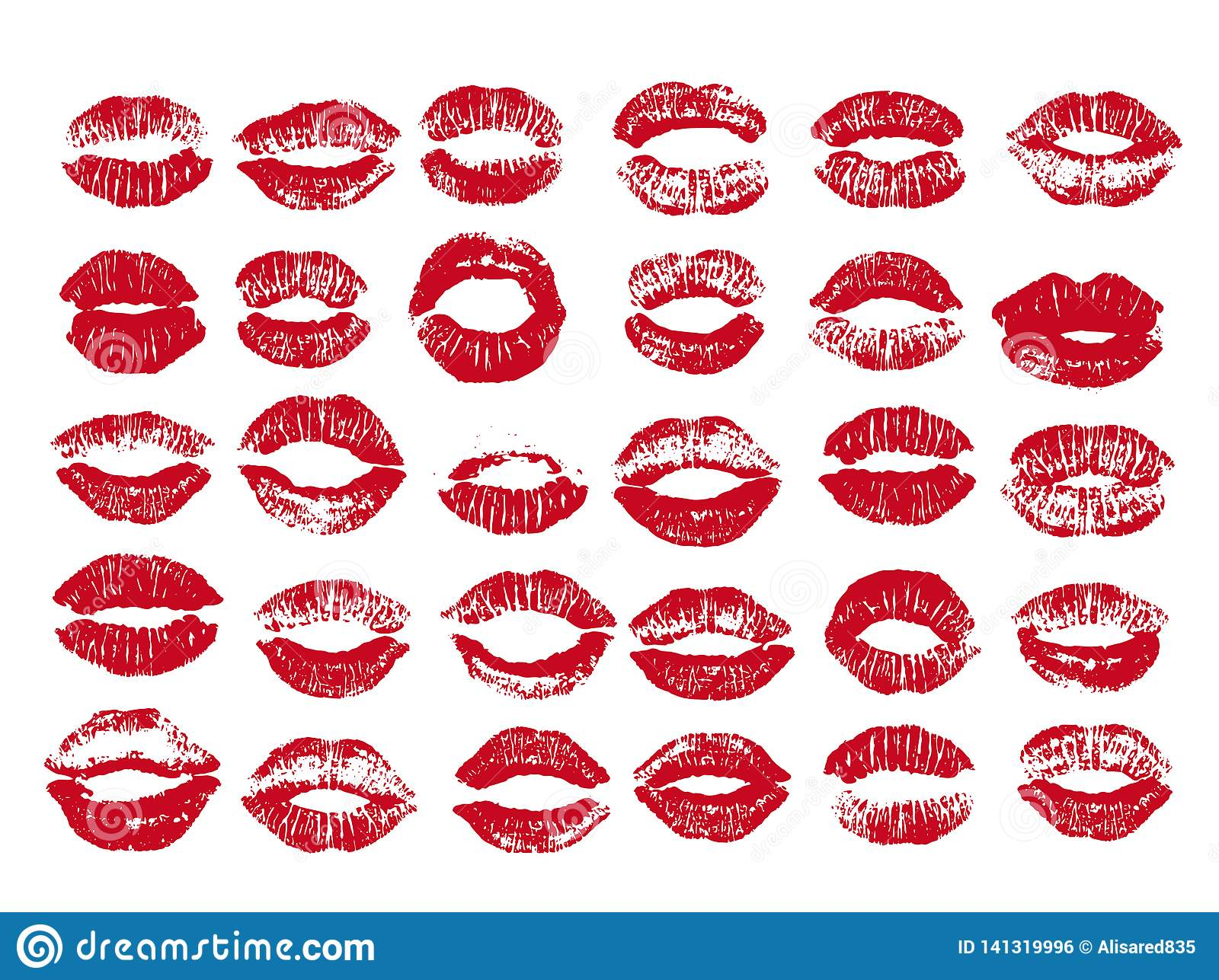 cbb08d7b79a Women lips set. Hand drawn watercolor lips isolated on white background.  Fashion and beauty illustration.