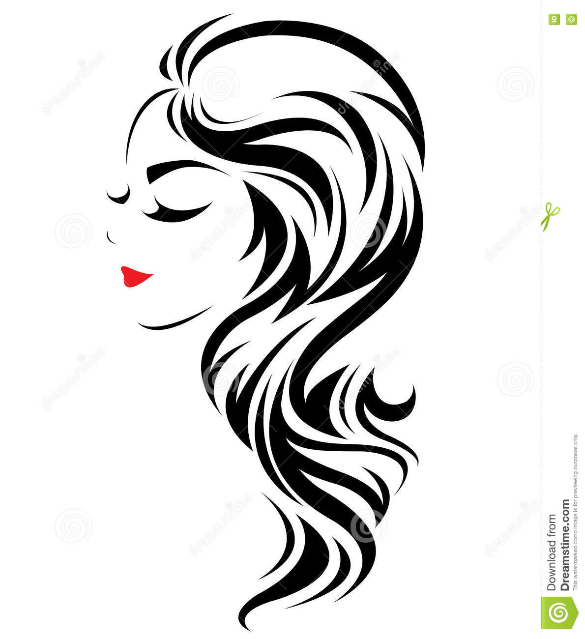 style icon hair hair salon logo icon vector cartoondealer 5836
