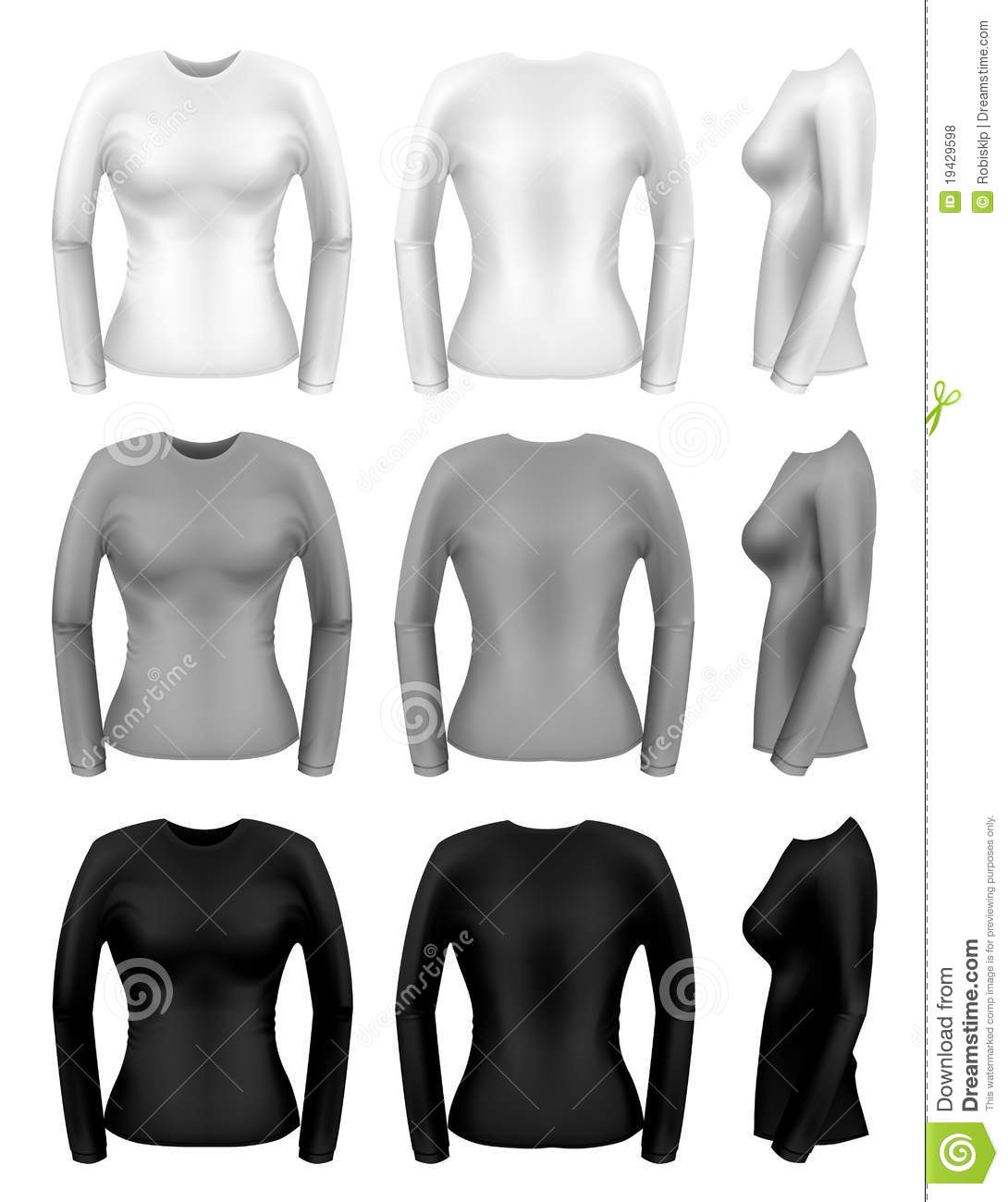 Women Long Sleeve T-shirts Royalty Free Stock Photos - Image: 19429598