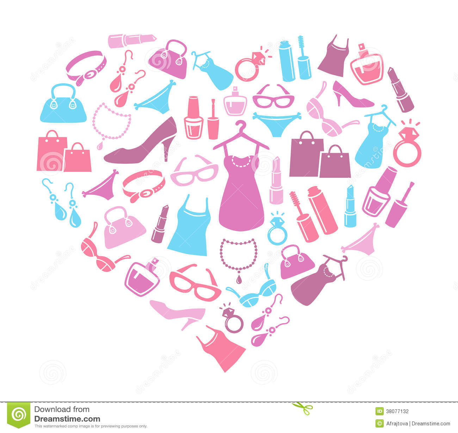 Women Love Shopping Stock Photography