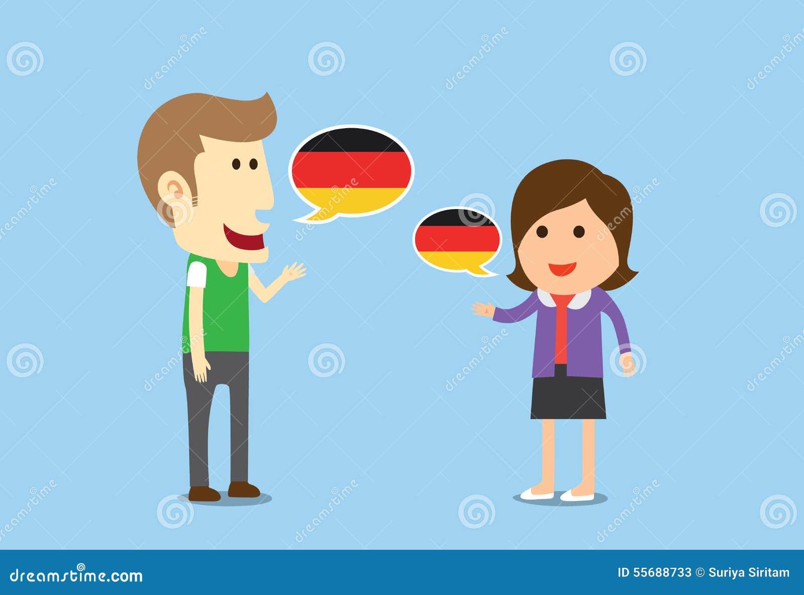 Women And Man Speaking German