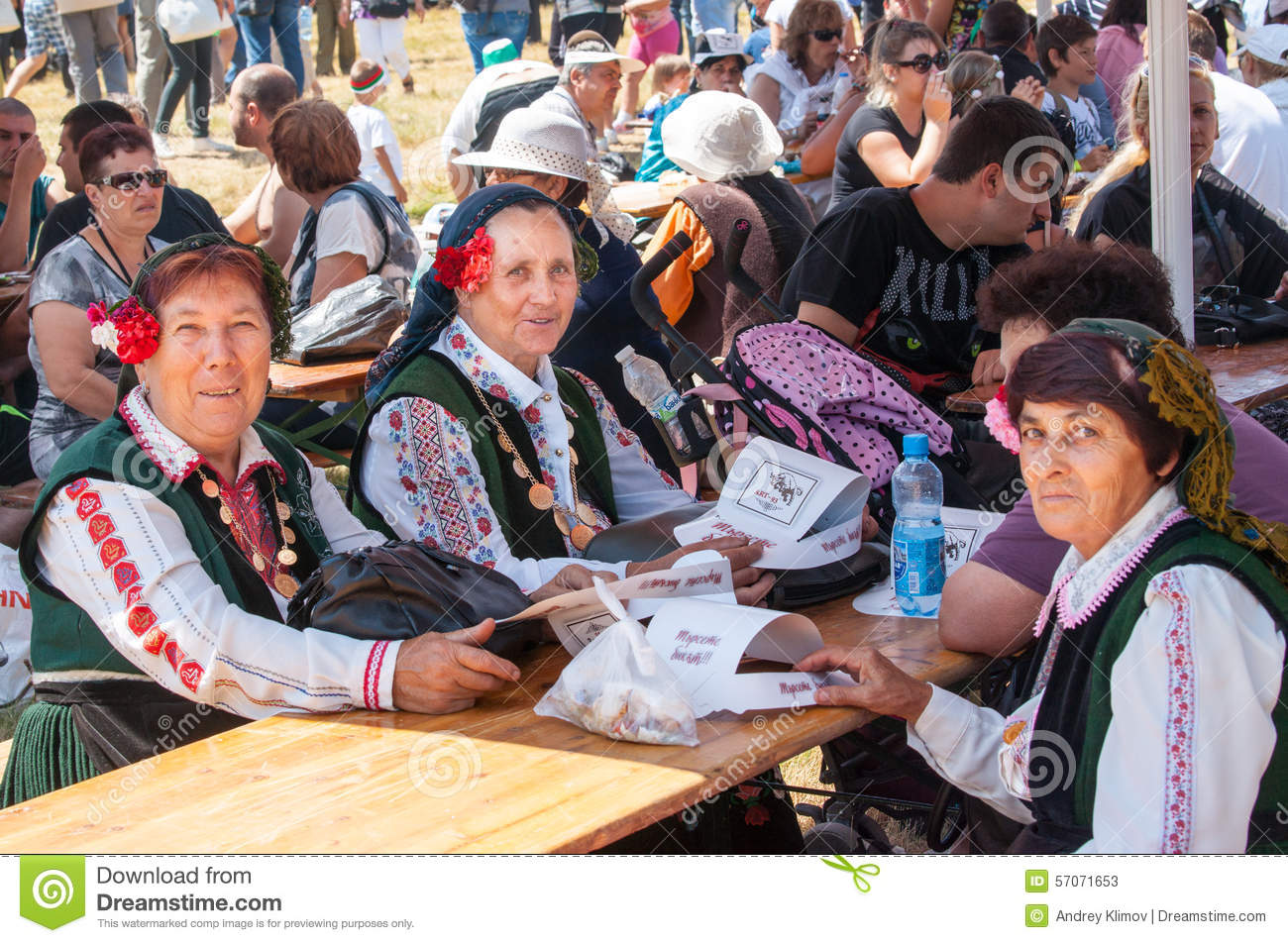 Women In National Bulgarian Costumes At The Festival ...
