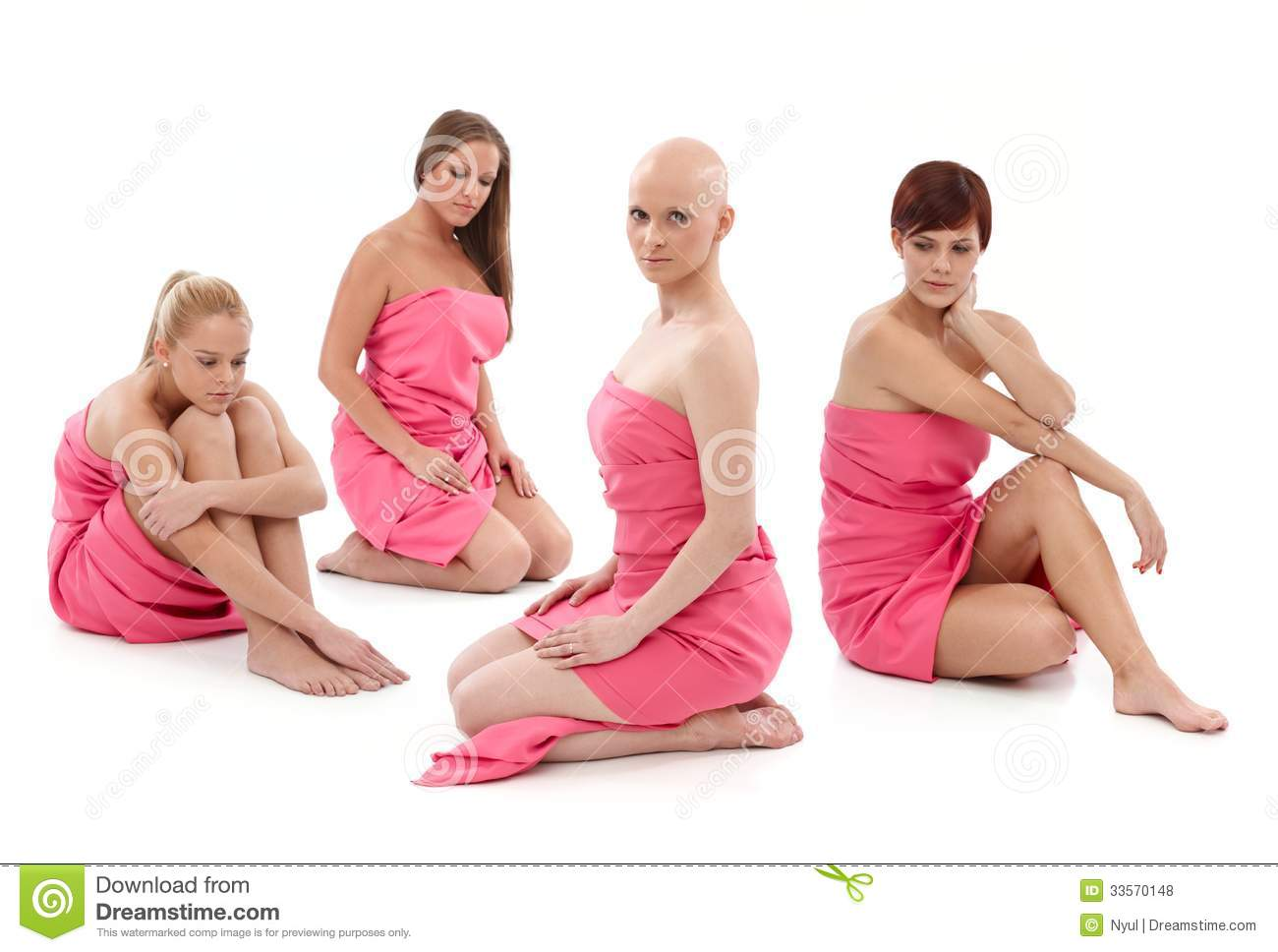 Women In Pink - Breast Cancer Awereness Royalty Free Stock Photos ...