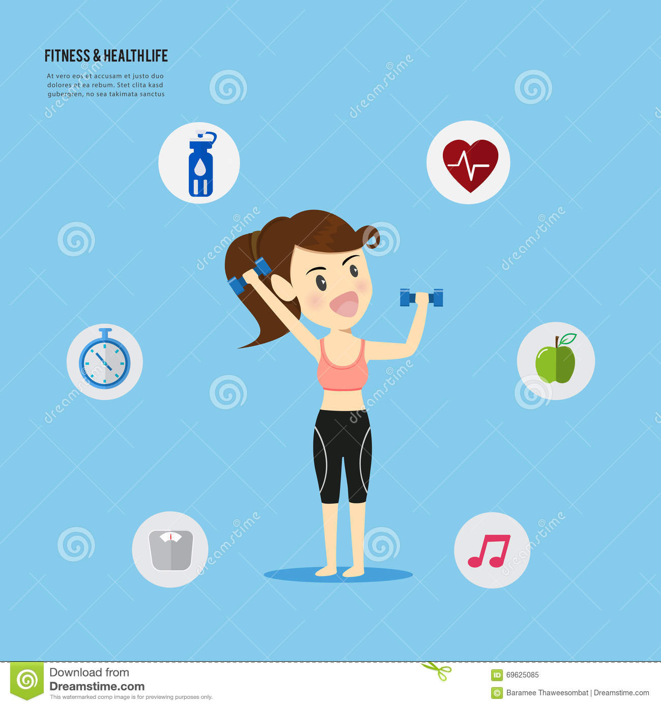 Women Play Fitness Fit Firm Healthy Lifestyle Concept Stock Vector Illustration Of Play Sport 69625085 It's time to wake up and change the bad habits. dreamstime com