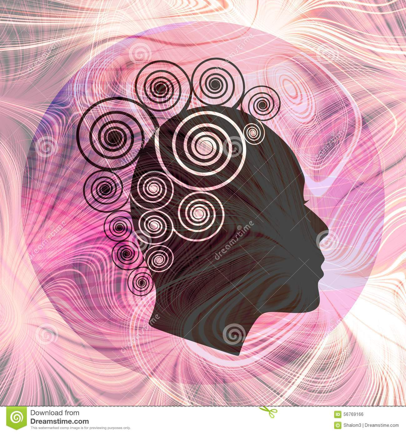 Women profile on pink fractal background beauty fantasy for Abstract salon of the arts