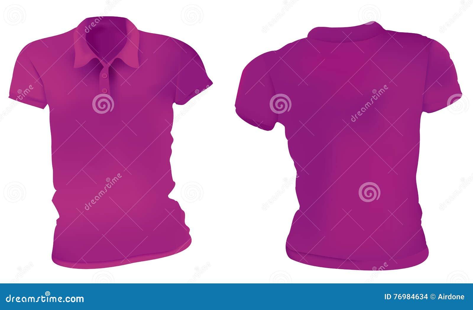 Women Purple Polo Shirts Template Stock Vector Illustration Of