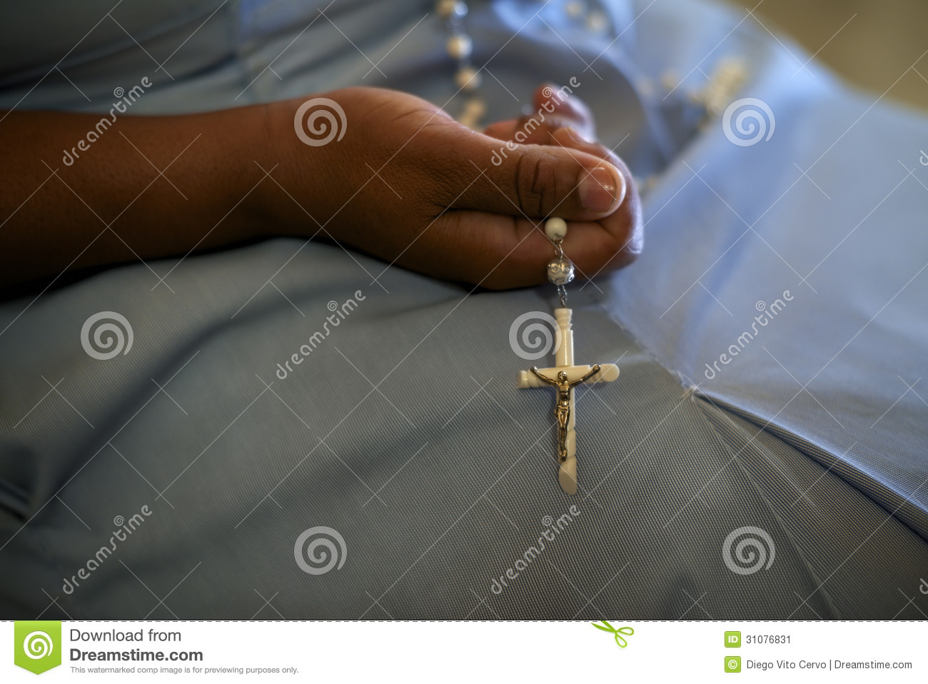 Women And Religion, Catholic Sister Praying In Church ...
