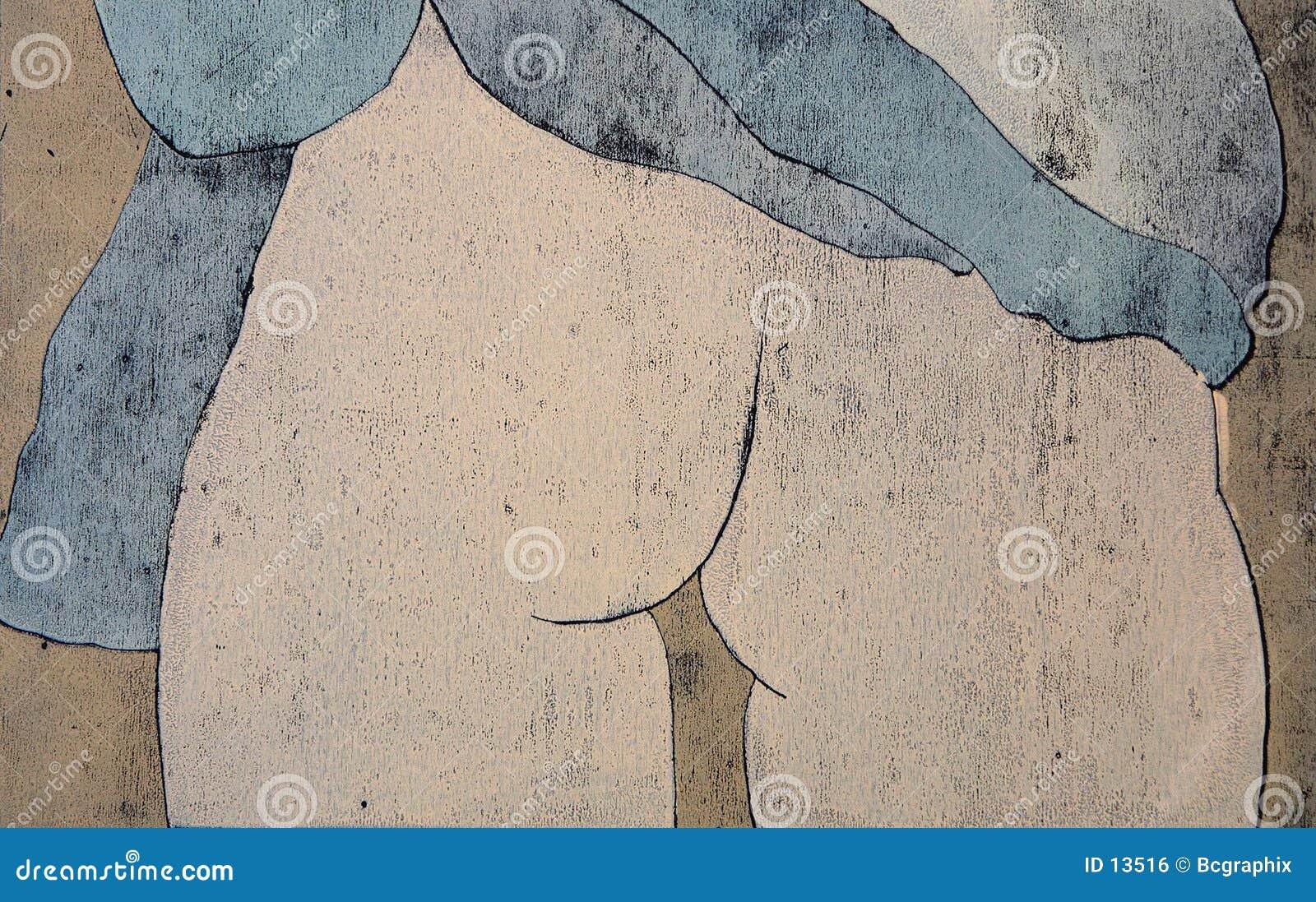 Women s behind undressing