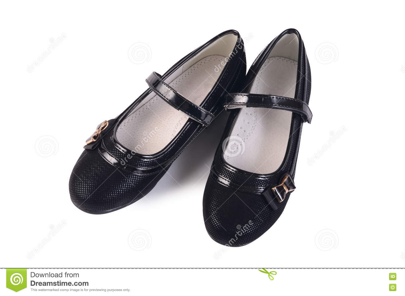 736d38973 Women's Black Shoes Isolated On White Stock Photo - Image of ...