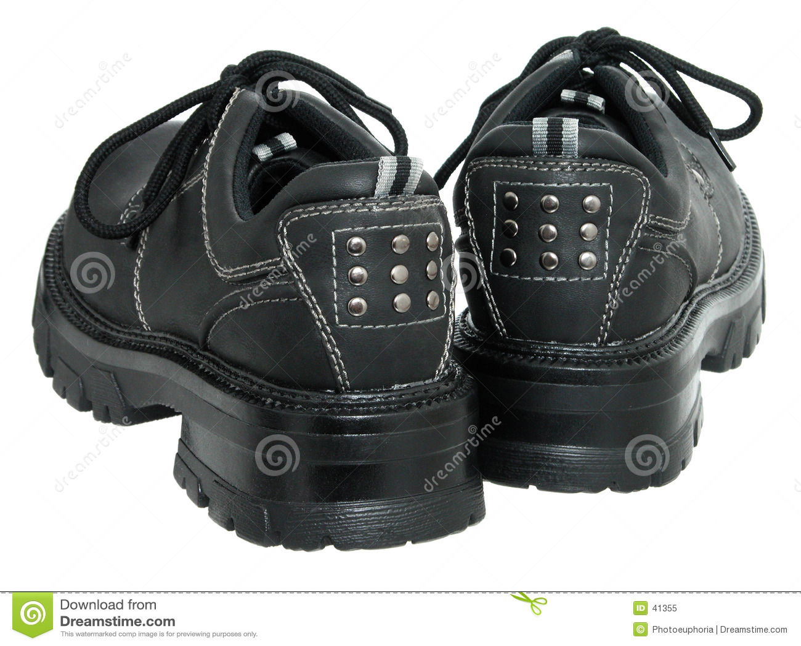 Women s Black Winter Shoes (back)