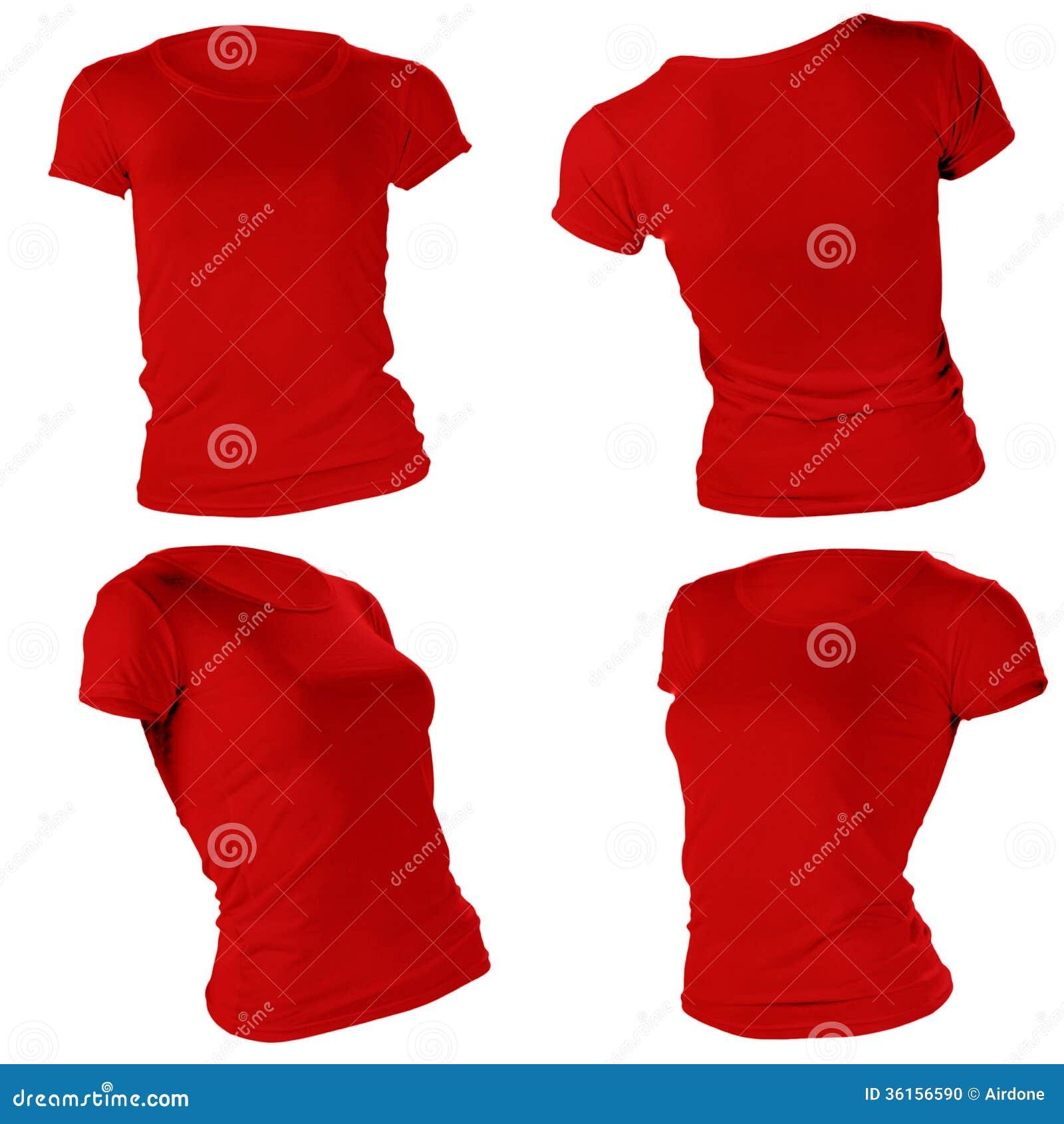 T shirt design red - Women S Blank Red T Shirt Template