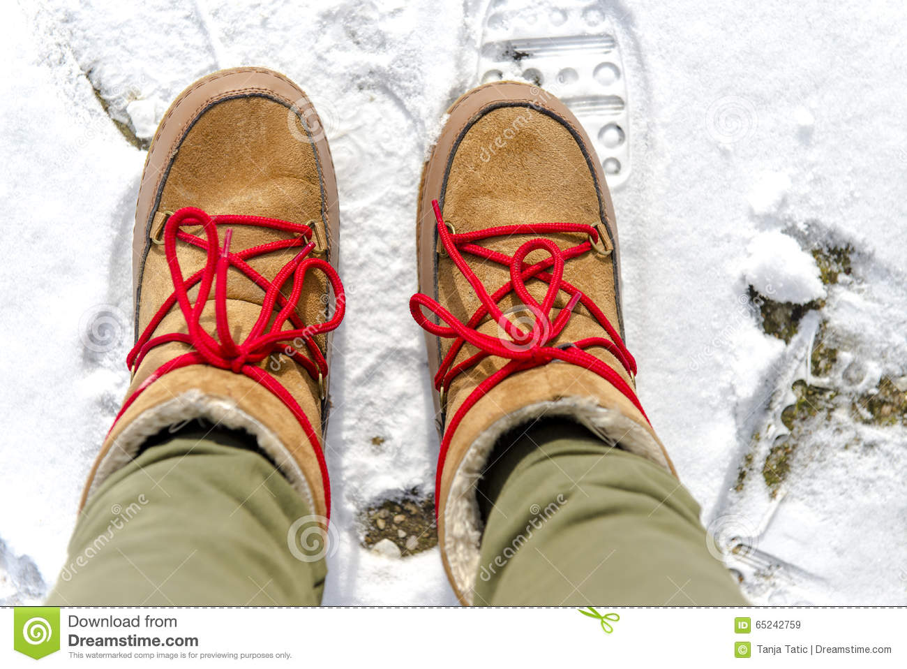 Women s boots stock image. Image of