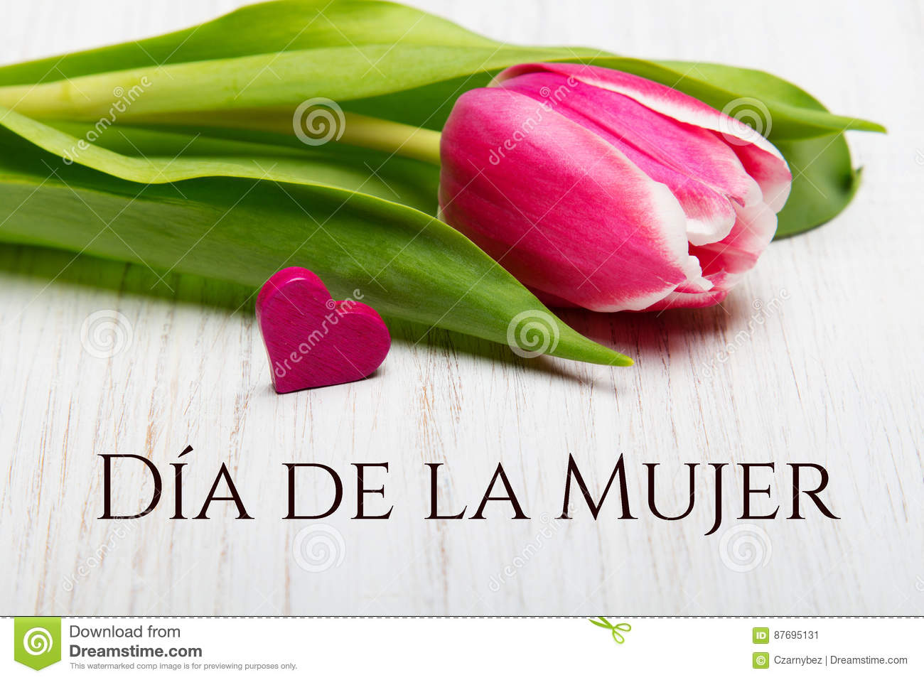Womens day card with spanish words da de la mujer stock image download comp izmirmasajfo