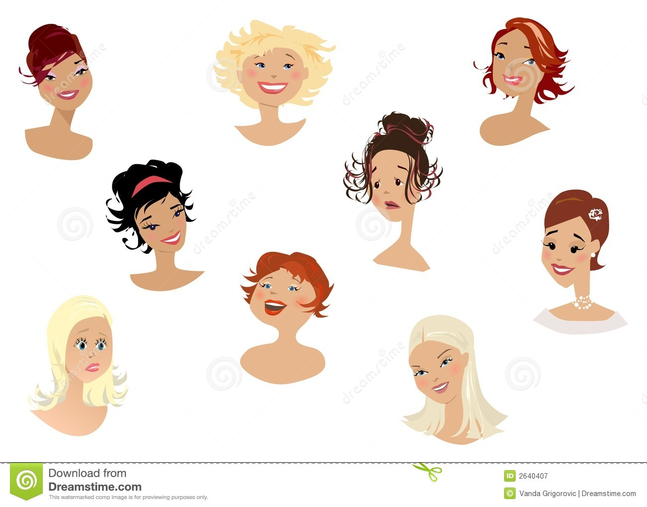 Womens Faces Royalty Free Stock Photography Image 2640407