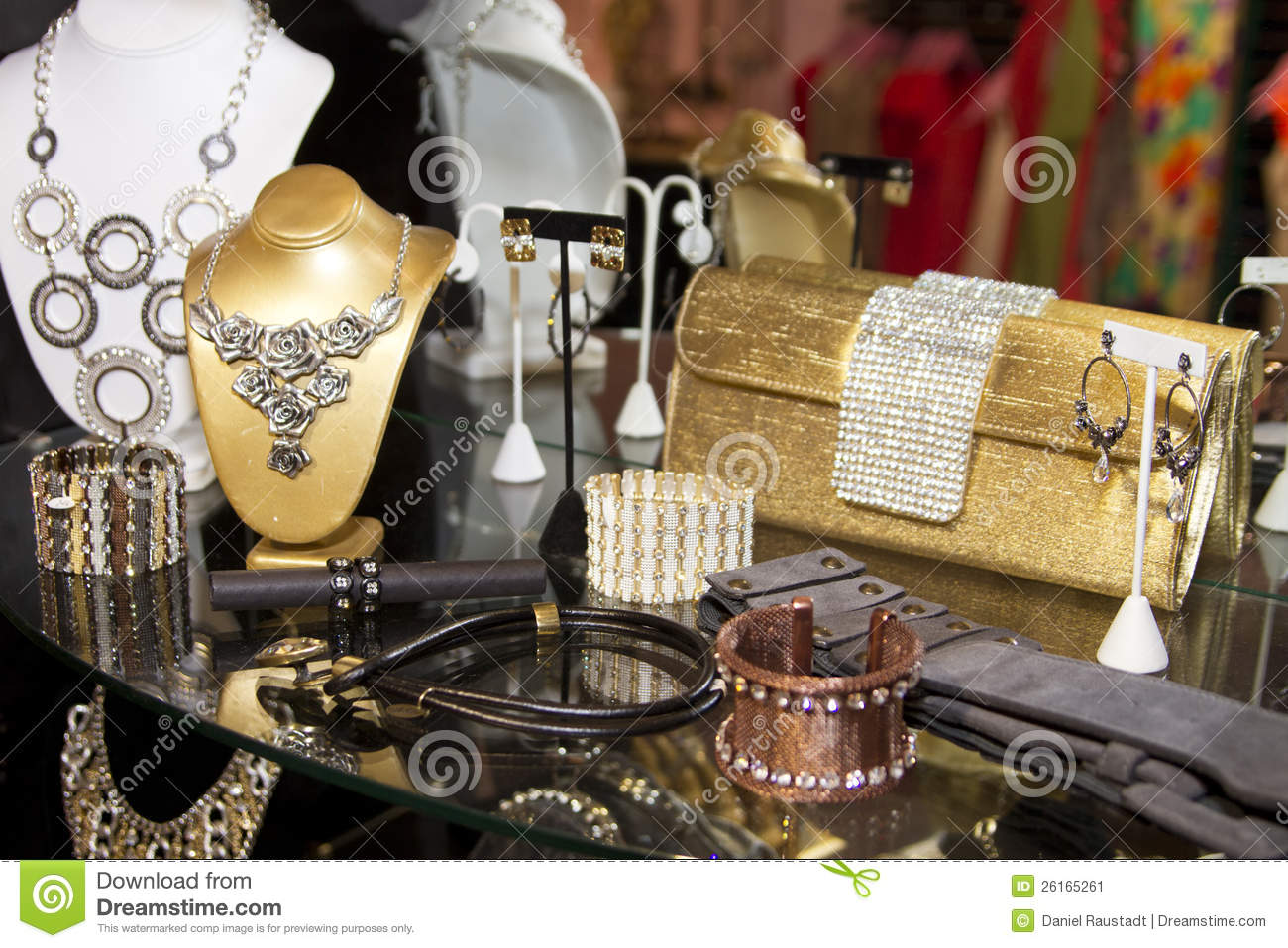 Womens Fashion Accessories Boutique Stock Image Image