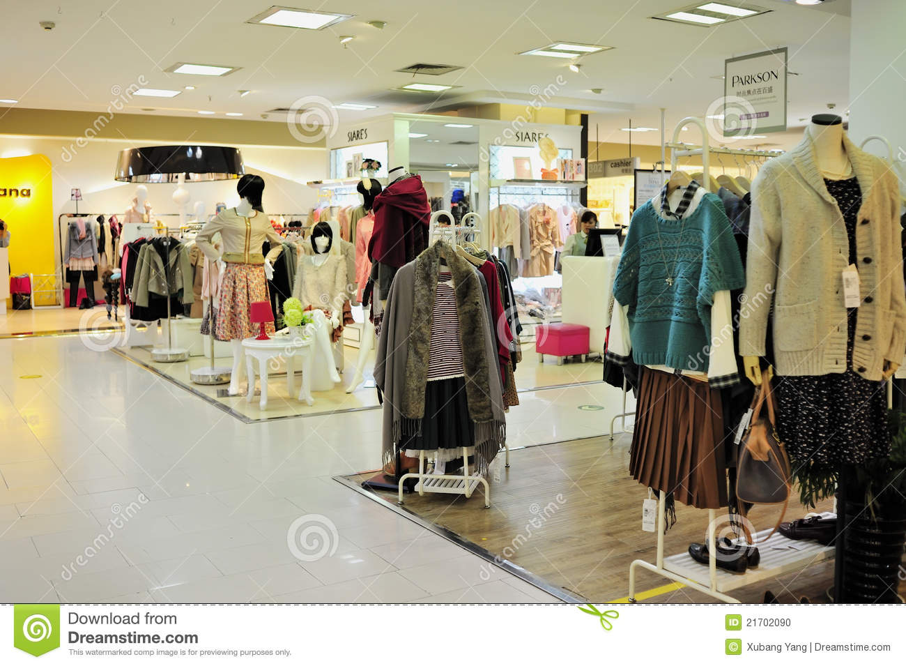 women s fashion clothing store in parkson shopping plaza, wuxi city