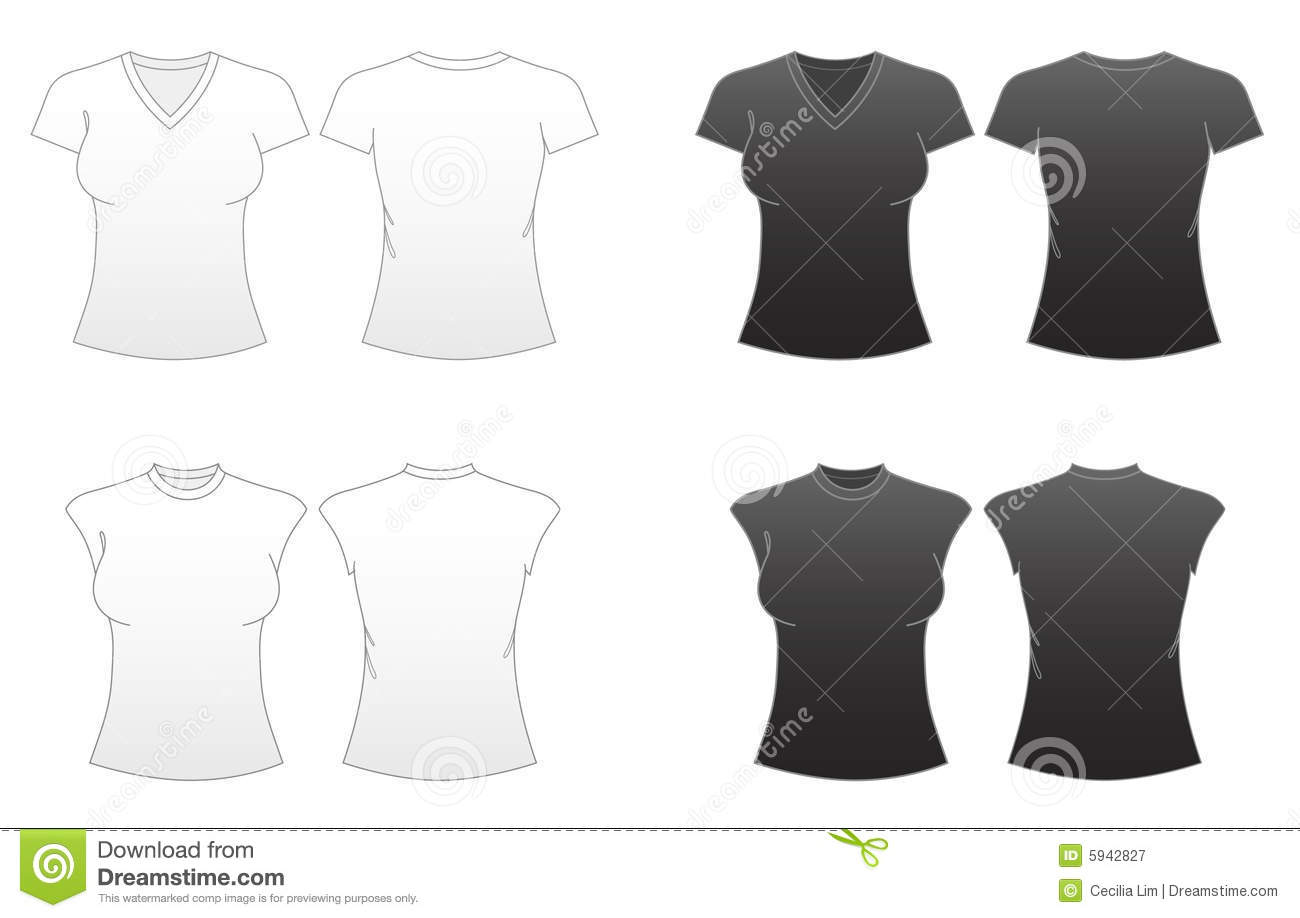 Tshirt Template V Neck Stock Photos, Images, & Pictures - 325 Images