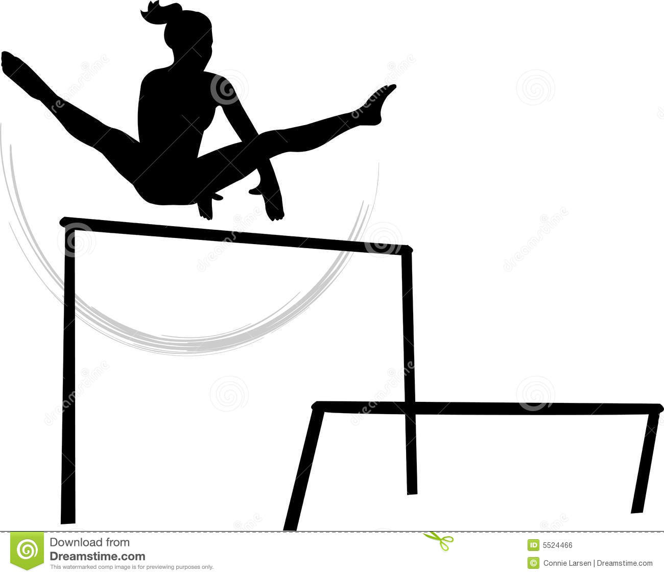 Women S Gymnastics Uneven Parallel Bars Stock Illustration