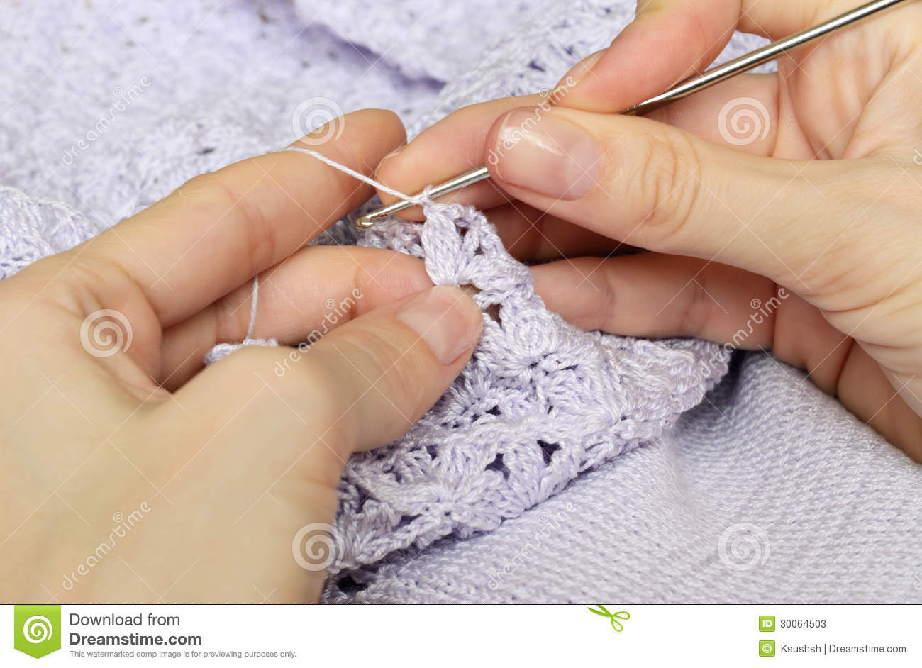 Crocheting With Hands : Hands Crocheting Women s hands and crocheting