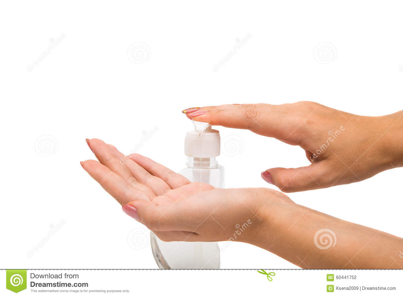 Women s hands with soap