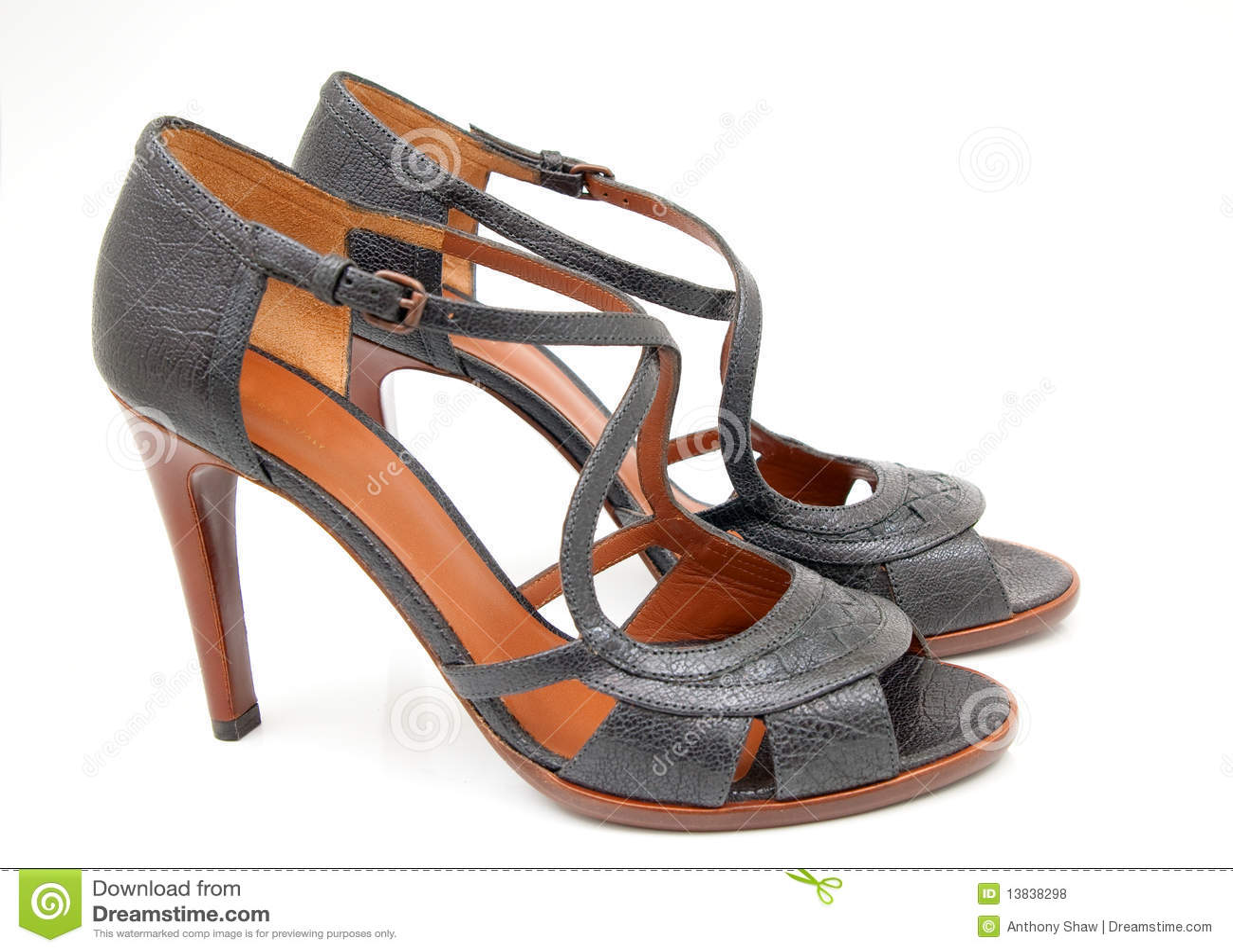 Royalty Free Stock Photos: Women s Italian Summer shoes