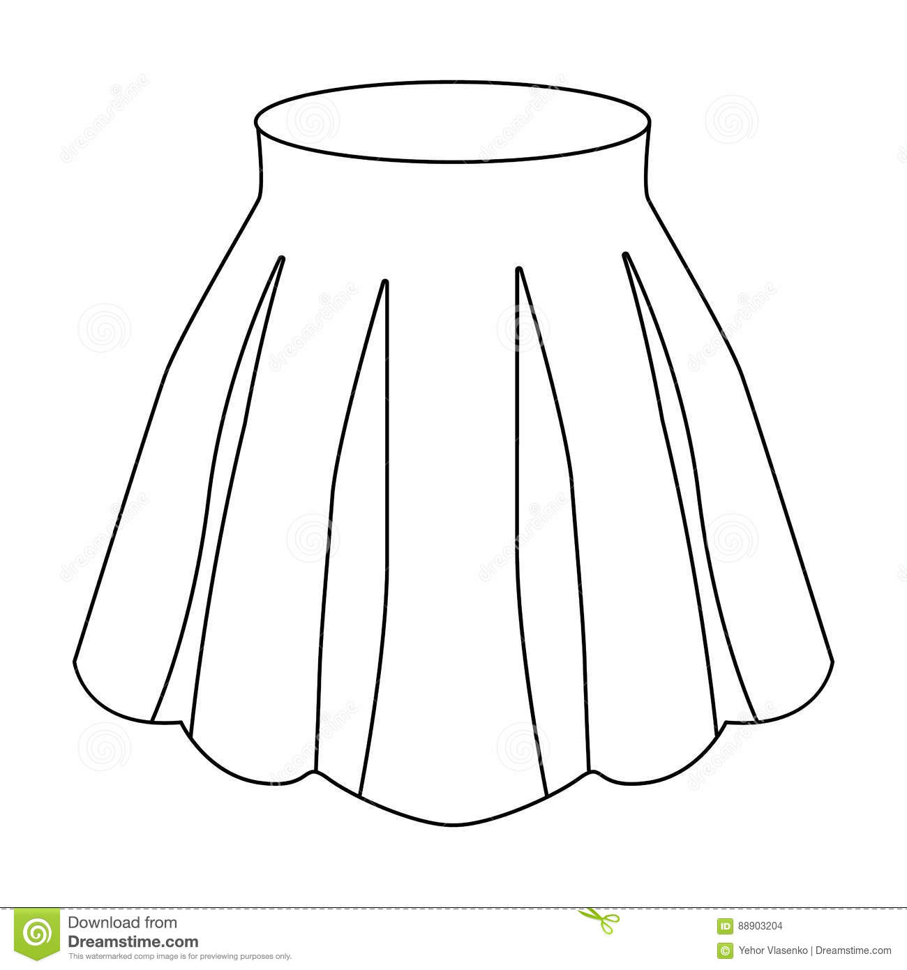 Women S Light Summer Skirt With Pleats. Beautiful Women S ...